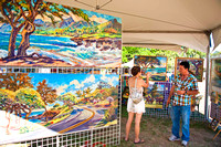 Haleiwa, Oahu, Hawaii, A day visiting the Haleiwa Art Festival and the north shore.
